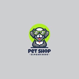 Mascotte de logo de chien