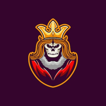 Mascotte logo crâne roi