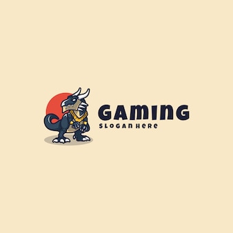 Mascotte de logo de dragon