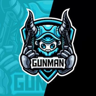Mascotte de logo esport gunman esport