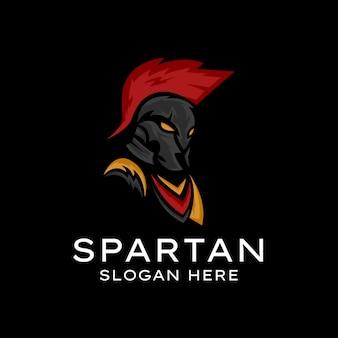Mascotte de logo de guerrier spartiate, mascotte de logo de guerrier spartiate