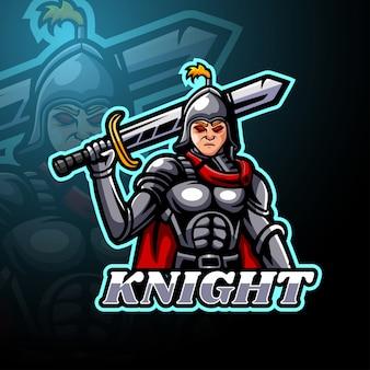 Mascotte de logo knight esport
