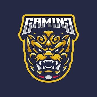 Mascotte de logo de lion