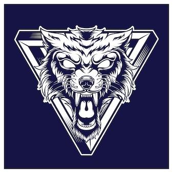 Mascotte de logo de loup