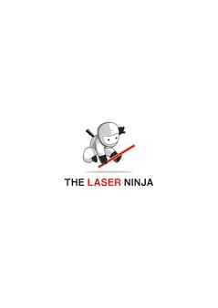 Mascotte de logo de ninja de laser