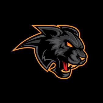 Mascotte logo noir panthère