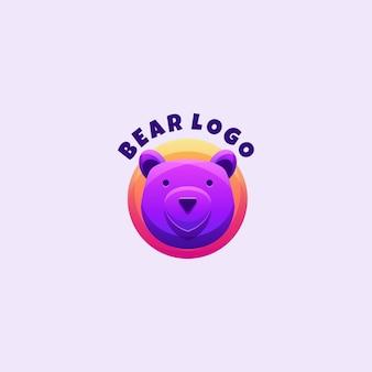 Mascotte de logo ours à colorier