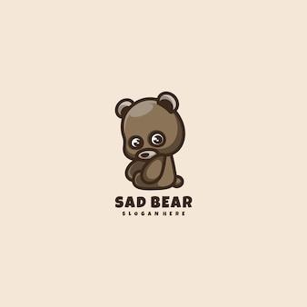 Mascotte de logo ours