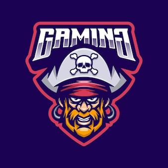 Mascotte de logo de pirates