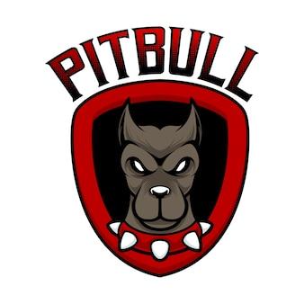 Mascotte de logo pitbull