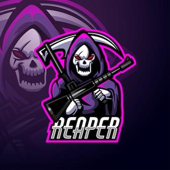 Mascotte de logo reaper esport
