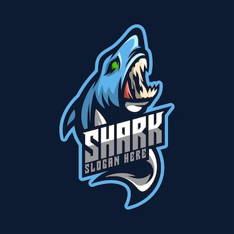 Mascotte de logo de requin