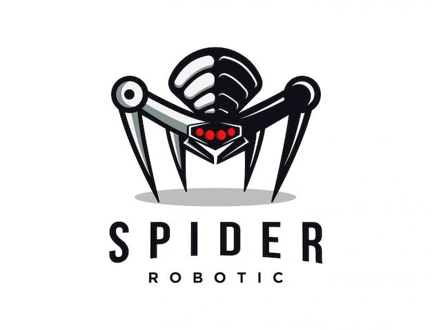 Mascotte de logo de robot araignée