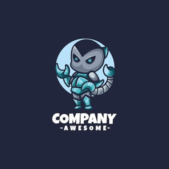 Mascotte logo robot scorpion