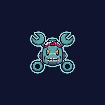 Mascotte de logo de robot