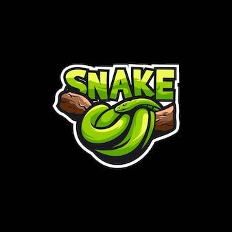 Mascotte de logo serpent esport