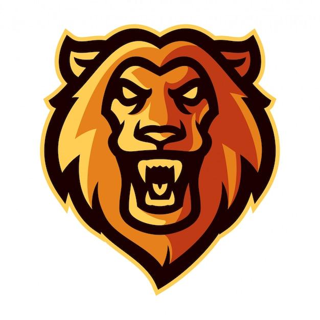 Mascotte logo tête de lion
