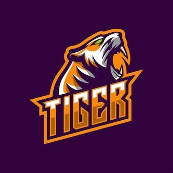 Mascotte de logo de tigre