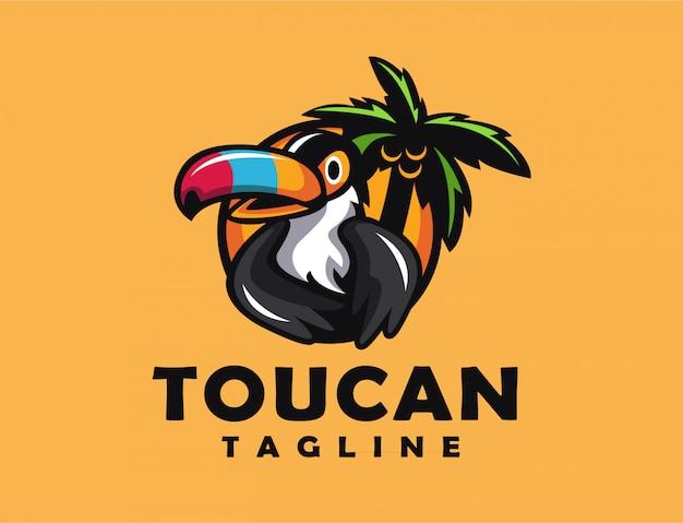 Mascotte de logo toucan