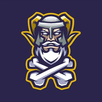 Mascotte de logo viking