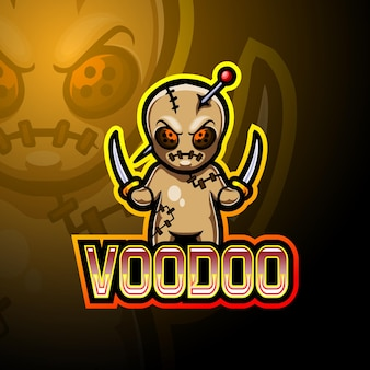 Mascotte de logo voodoo esport