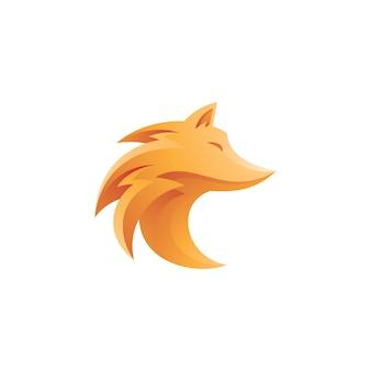 Mascotte de loup ou de renard abstrait
