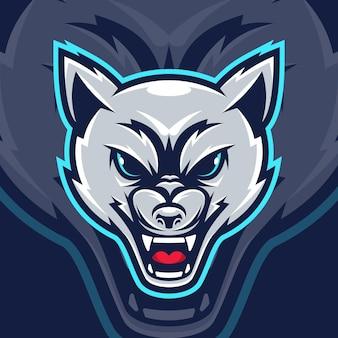 Mascotte de loup