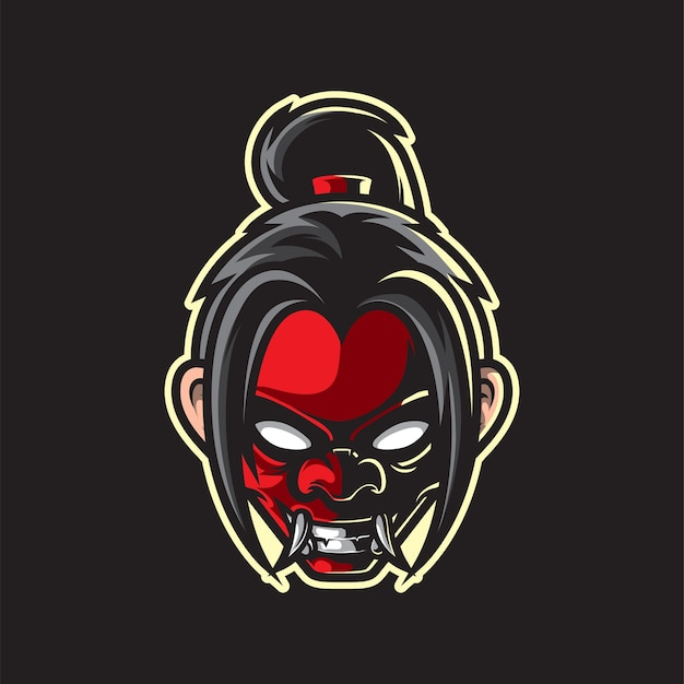 Mascotte de masque de ninja portant