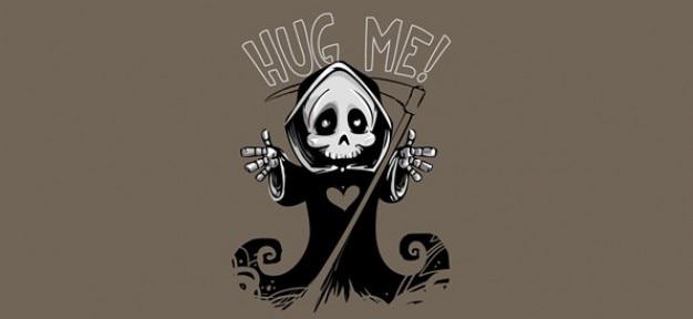 Mascotte mignon et la mort; grim reaper