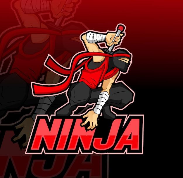 Mascotte ninja esport logo