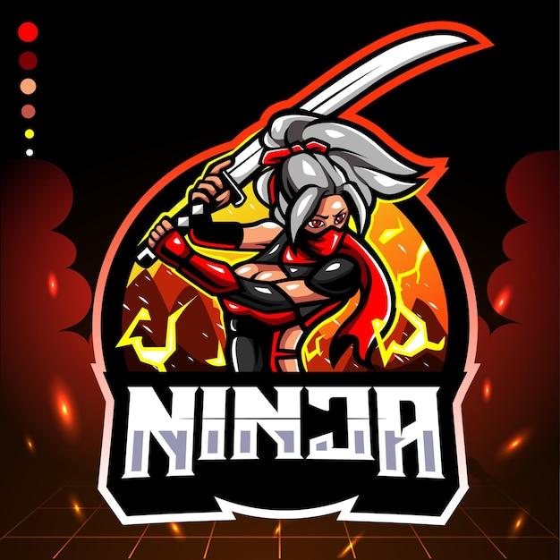 Mascotte de ninja. logo esport