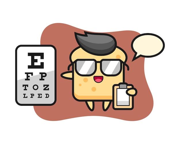 Mascotte de pain comme ophtalmologie