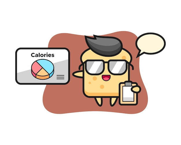 Mascotte de pain mascotte en tant que diététiste