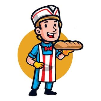 Mascotte de pain meilleur dessin animé