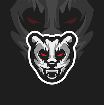 Mascotte de panda en colère