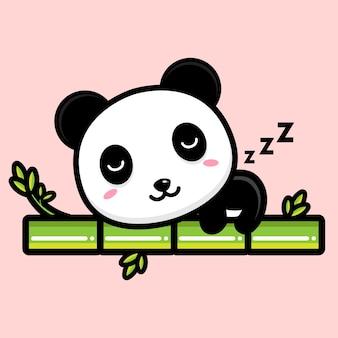 Mascotte de panda mignon