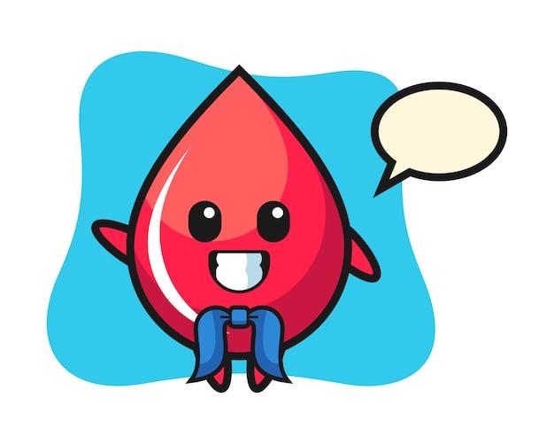 Mascotte de personnage de goutte de sang en tant que marin, style mignon, autocollant, élément de logo