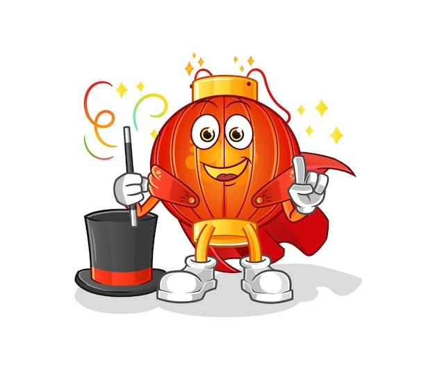 Mascotte de personnage de magicien de la lanterne chinoise