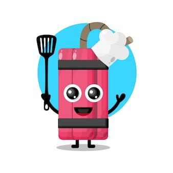 Mascotte de personnage mignon chef dynamite