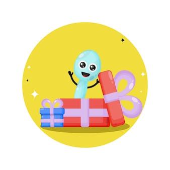 Mascotte de personnage mignon cuillère cadeau anniversaire
