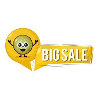 Mascotte de personnage mignon de grande vente de kiwi