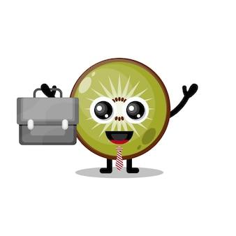 Mascotte de personnage mignon de travail de kiwi
