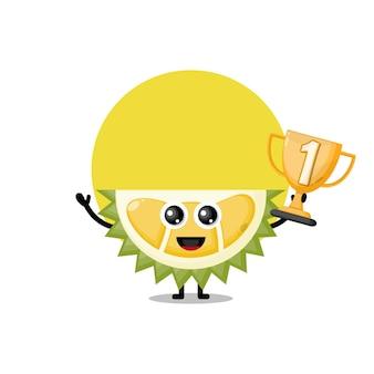 Mascotte de personnage mignon trophée durian