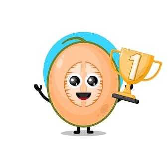 Mascotte de personnage mignon trophée melon