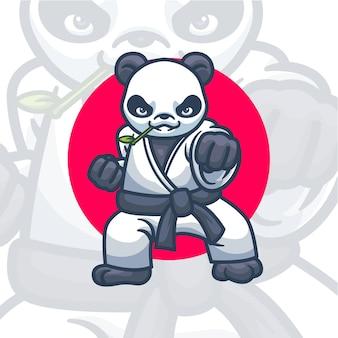 Mascotte de personnage panda illustration