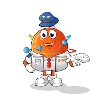 Mascotte de pilote atom.