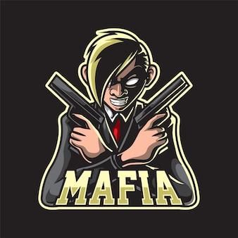 Mascotte de pistolet de maintien de la mafia