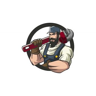 Mascotte plombier