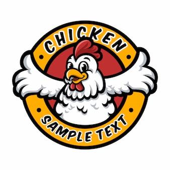 Mascotte de poulet au logo