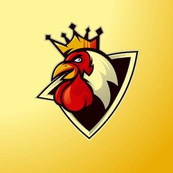 Mascotte de poulet pour la conception du logo de l'équipe esport
